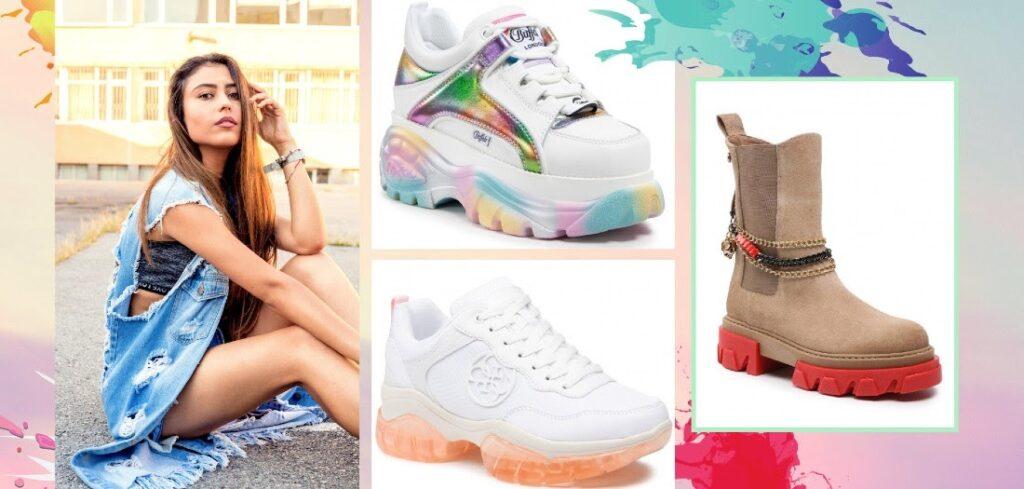 pantofi cu talpă colorată