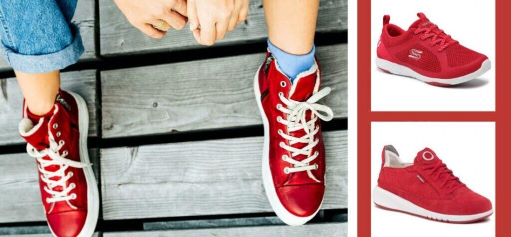 sneakerși roșii